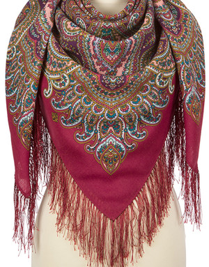Wool shawl ''Longing for holiday''