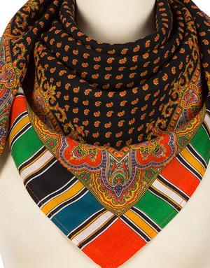Wool shawl ''Oriental print''