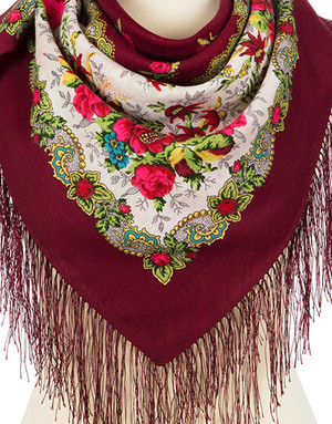 Wool shawl ''Home song''