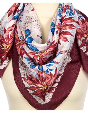 Silk shawl ''Watercolors''