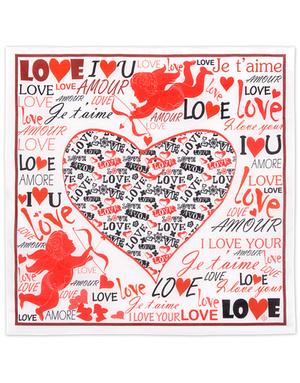 Cotton head scarf ''St. Valentine''
