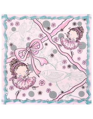 Cotton head scarf ''Ballerinas''