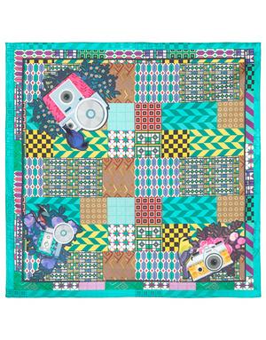 Cotton head scarf  ''Modern patchwork''