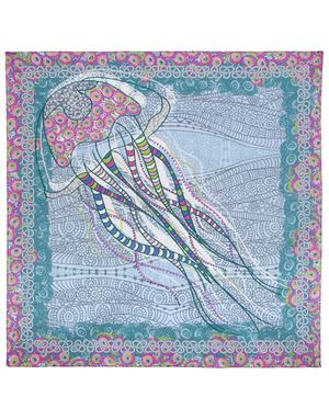 Cotton head scarf ''Meduse''