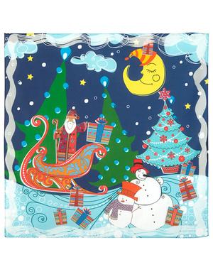 Cotton head scarf  ''Winter holidays''
