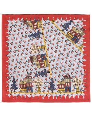 Cotton head scarf ''Village''