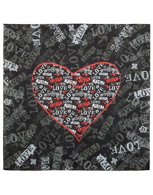 Cotton head scarf ''Love heart''