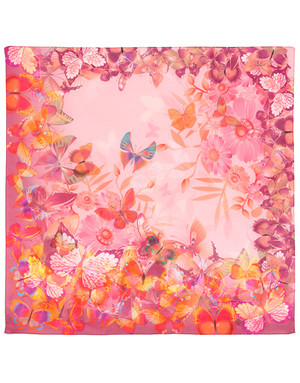 Cotton head scarf ''Butterfly summer''