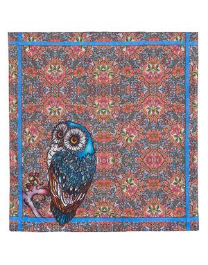 Cotton head scarf ''Owlish''