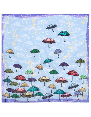 Cotton head scarf ''Umbrellas''