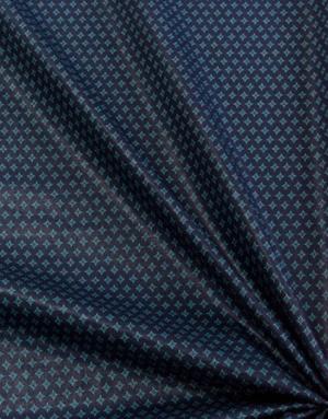 {[en]:Cotton fabric ''Mint snowflakes''}