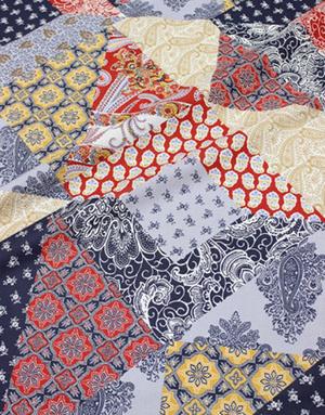 {[en]:Cotton percale fabric ''Saffron''}