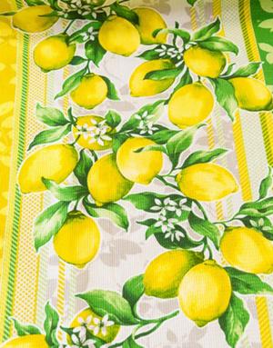 {[en]:Waffle fabric ''Sicilian lemons''}