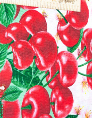 {[en]:Waffle fabric ''Cherry''}