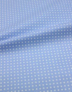 {[en]:Poplin cotton ''Polka dots on light blue''}