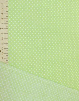 {[en]:Poplin cotton ''Polka dots on green''}