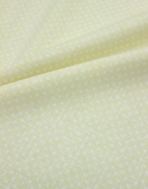 {[en]:Poplin cotton ''Polka dots on yellow''}