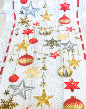 {[en]:Table fabric ''Christmas toys''}