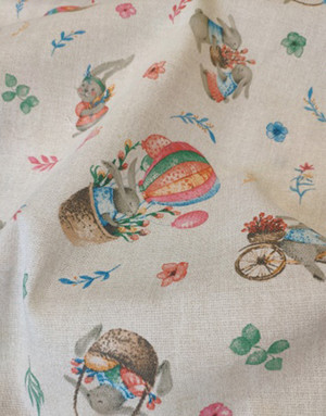 {[en]:Panama weave cotton ''Easter bunny''}