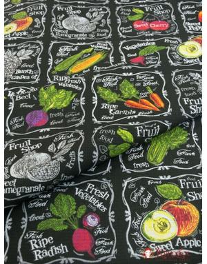 {[en]:Waffle fabric ''Fruits-vegetables''}