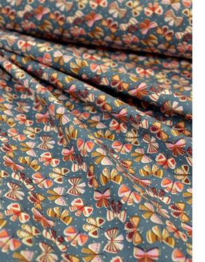 {[en]:Cotton fabric ''Butterflies dance''}