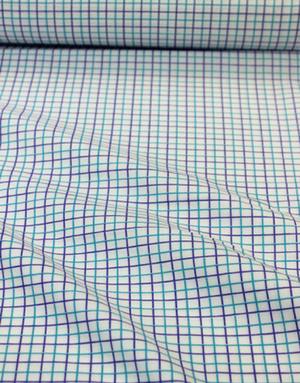 {[en]:Cotton percale ''Violet checkwork''}