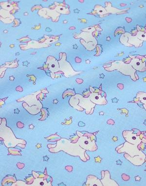 {[en]:Baby cotton ''Little unicorns'' light blue}