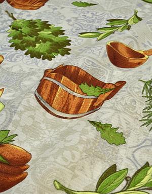 {[en]:Waffle fabric ''Oak Broom''}