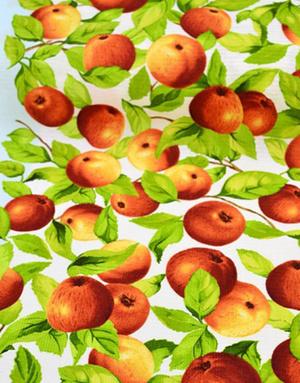 {[en]:Waffle fabric canvas ''Ripe apples''}