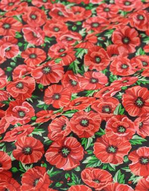 {[en]:Percale cotton fabric ''Poppies''}