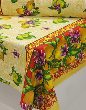 {[en]:Panama weave fabric ''Juicy lemons''}