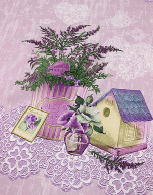 {[en]:Panama weave cotton ''Provence charm''}