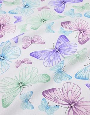 {[en]:Cotton fabric ''Wings whisper''}