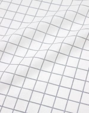 {[en]:Cotton percale fabric ''Grey Checkwork''}