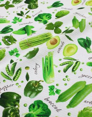 {[en]:Waffle cotton ''Vegetable mix''}