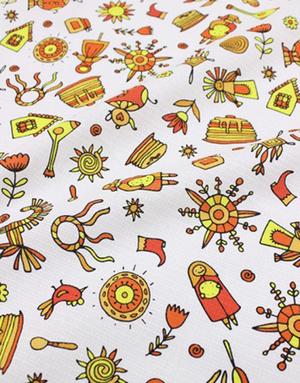 {[en]:Waffle fabric ''Pancake Week''}