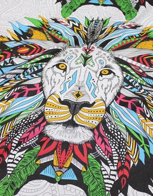 {[en]:Cotton fabric ''Lion king''}