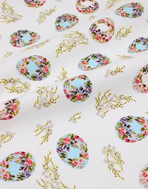 {[en]:Panama weave cotton ''Easter Romantic''}