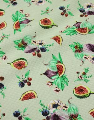 {[en]:Waffle fabric ''Figs on grey''}