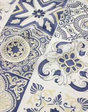 {[en]:Cotton fabric ''Antique bird''}