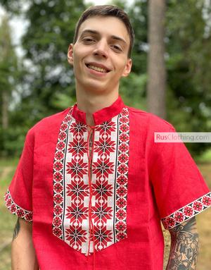 """Russian shirt linen """"Gagarin"""""""