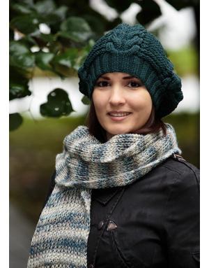 Emerald knit beret