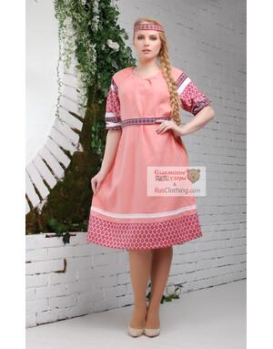 linen Russian dress