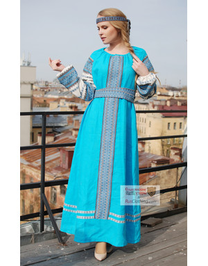 Slavic dress linen