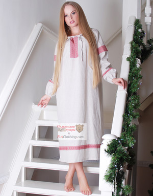 Slavic dress rubakha