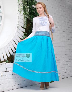 long linen skirt