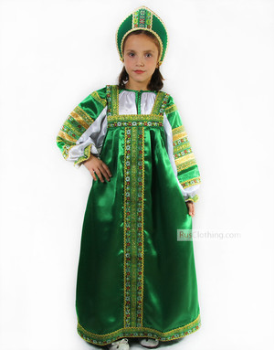 Vasilisa silk sarafan dress