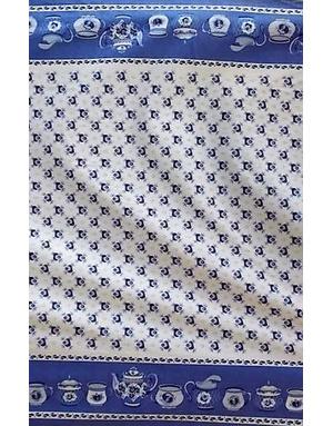 {[en]:Russian pattern Gzhel cotton fabric }