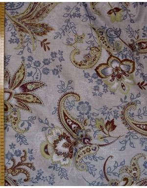 {[en]:Boho fabric by the yard Burgundy Eastern cucumbers}