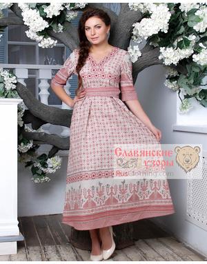 linen slavic dress